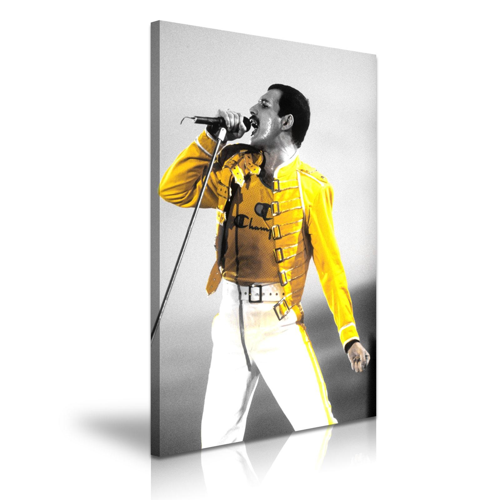 Music & Dance Freddie Mercury Queen Canvas Framed Print Wall Art With Regard To Freddie Mercury Wall Art (Image 13 of 20)