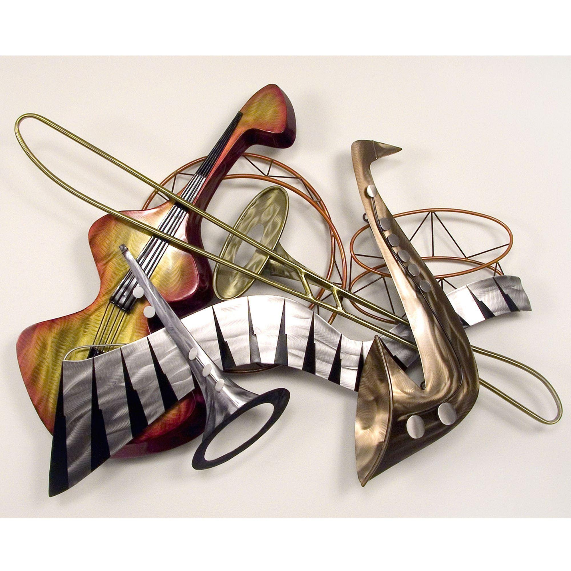 Music Metal Wall Sculptures | Touch Of Class For Music Metal Wall Art (Image 10 of 20)