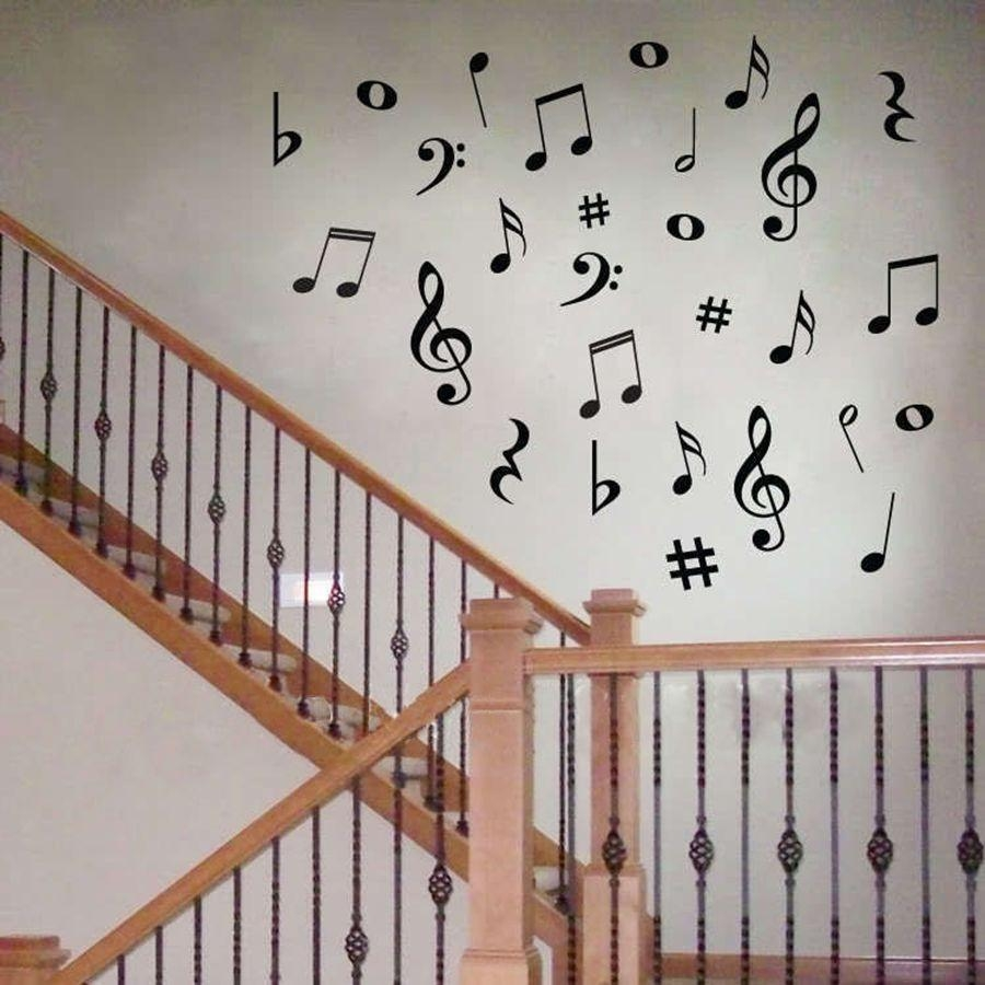 Music Note Wall Decor Promotion Shop For Promotional Music Note With Music Note Wall Art Decor (View 9 of 20)