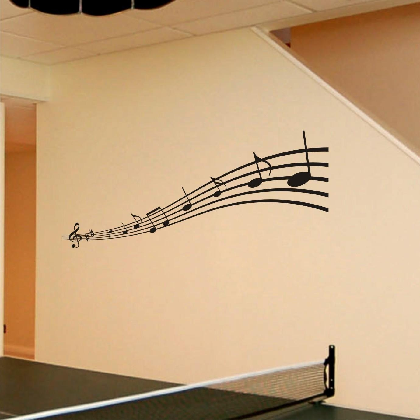 Music Notes Wall Art Decals ~ Color The Walls Of Your House Regarding Music Note Art For Walls (View 17 of 20)