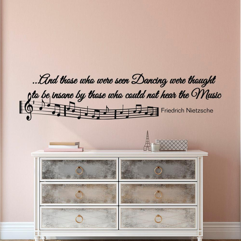 Music Notes Wall Decals Quotes Vinyl Lettering And Those Who Inside Music Note Wall Art Decor (Image 10 of 20)