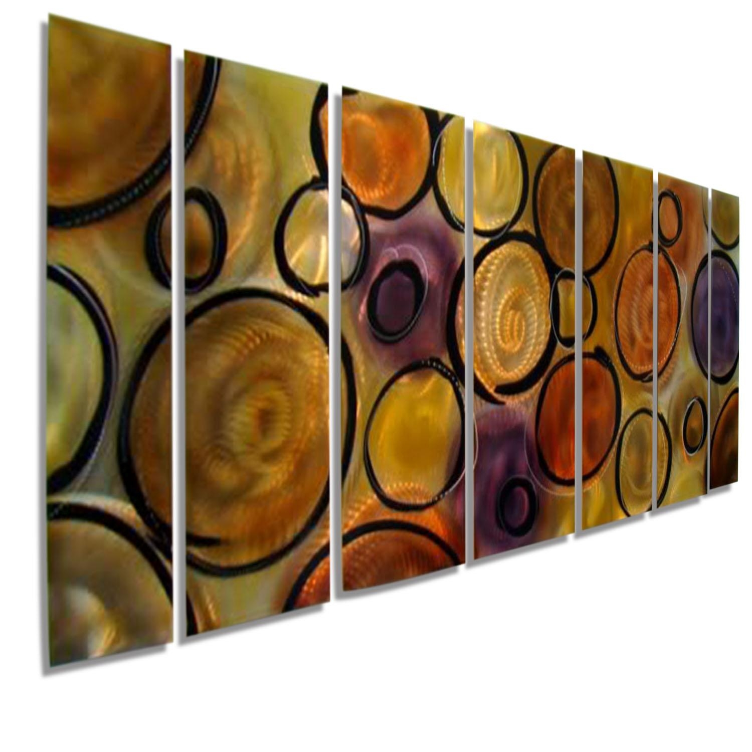 Music Of The Spheres Xl  Huge Modern Abstract Jewel Toned Metal Regarding Music Metal Wall Art (Image 12 of 20)