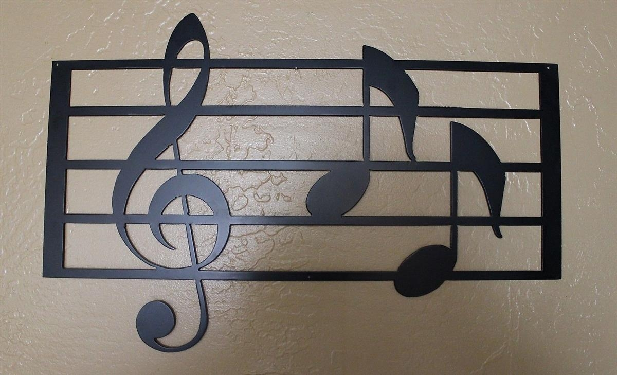 Music Scale With Notes Metal Wall Art Within Metal Music Wall Art (Image 11 of 20)