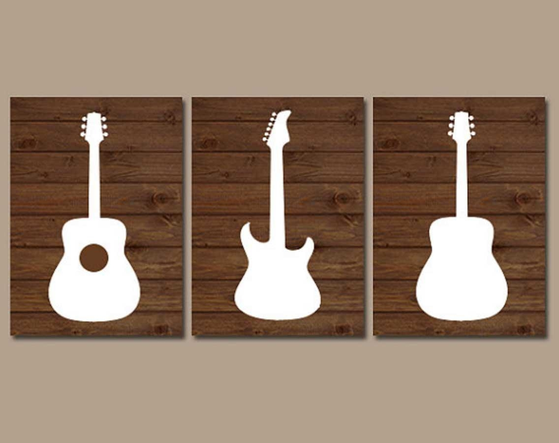 Music Themed Wall Art Guitar Music Note Symbol | Home Interior Within Music Theme Wall Art (View 5 of 20)