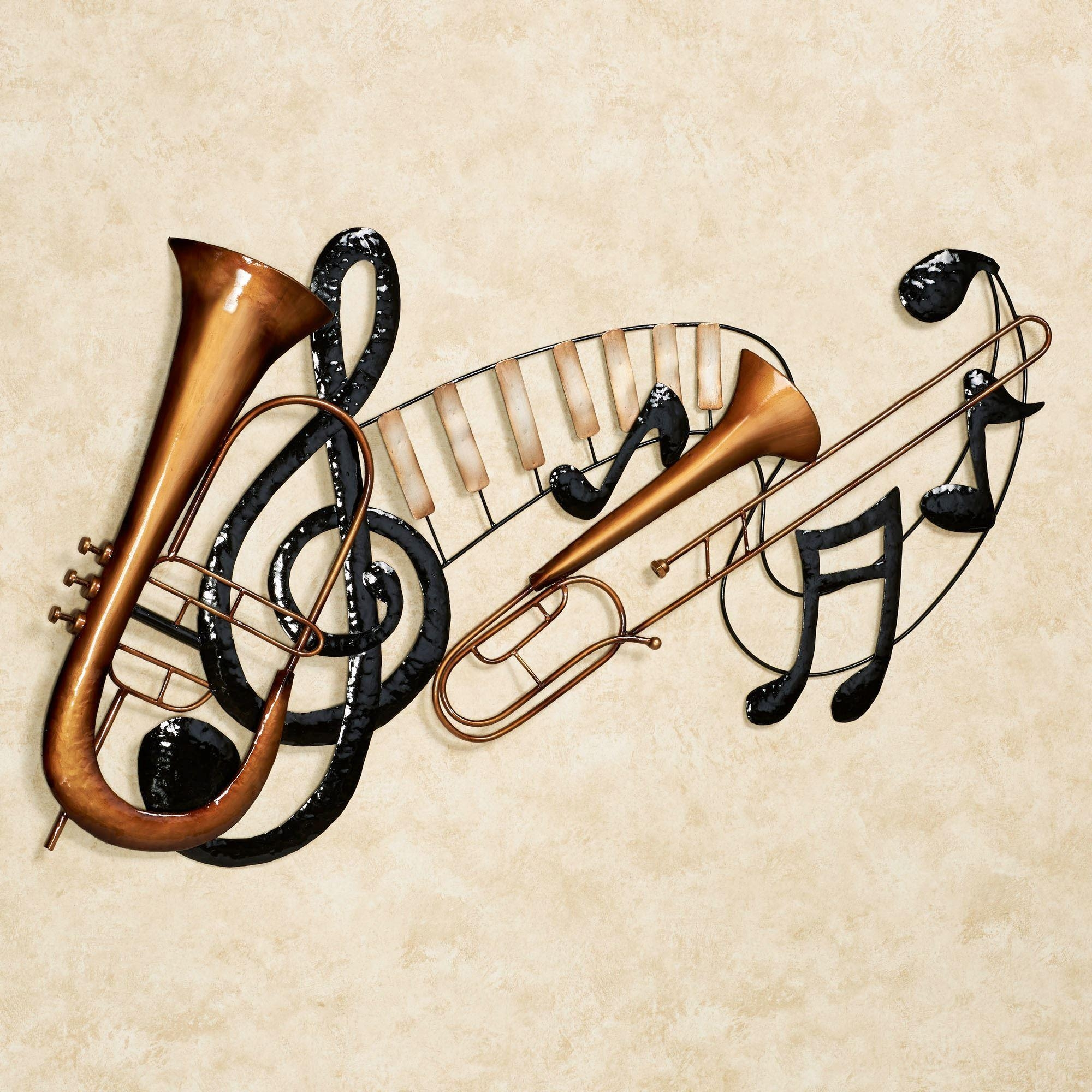 Musical Interlude Metal Wall Art Intended For Metal Music Wall Art (Image 13 of 20)