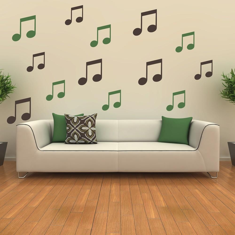 Musical Note Wall Stickers | Iconwallstickers.co (View 15 of 20)