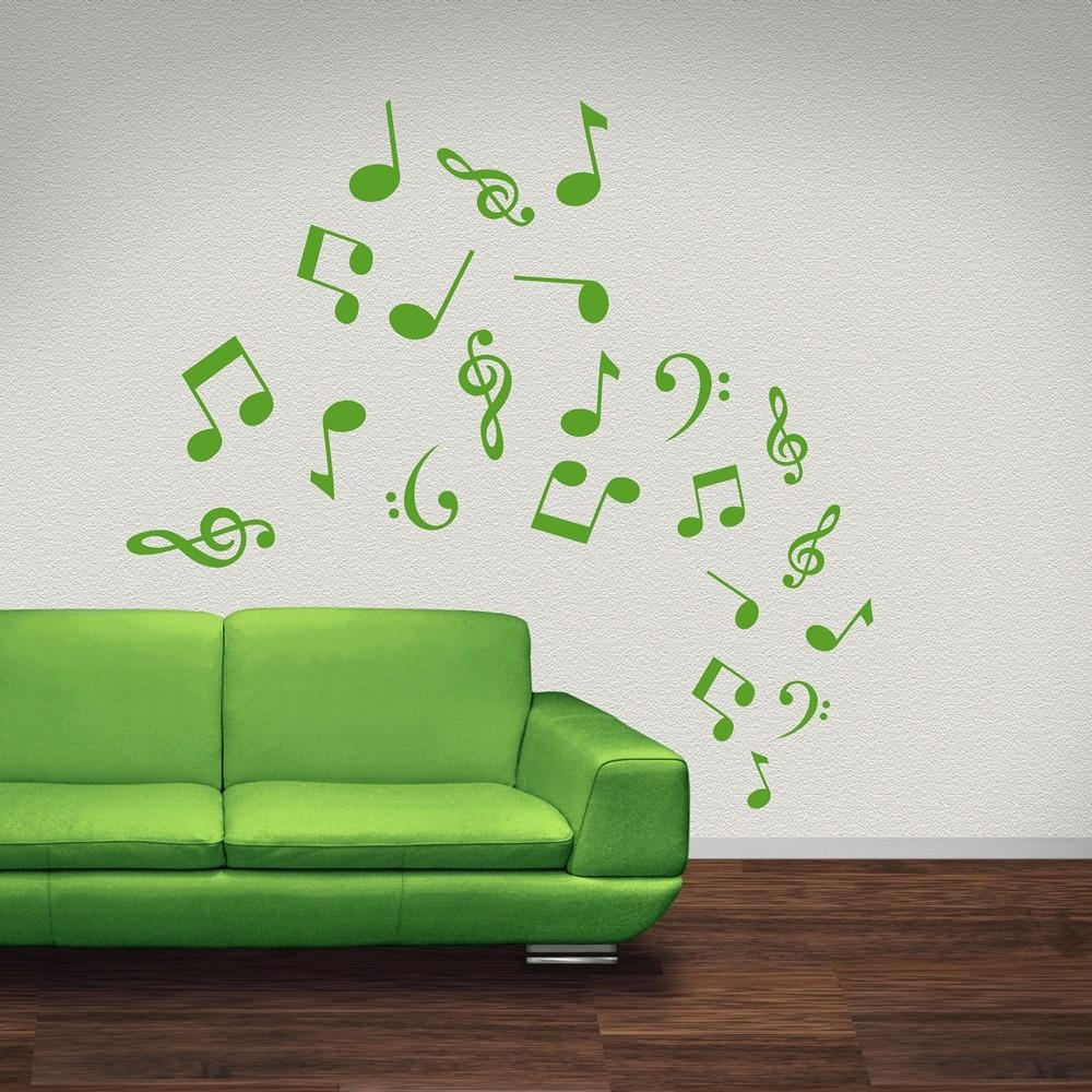 Musical Note Wall Stickers | Iconwallstickers.co (View 9 of 20)
