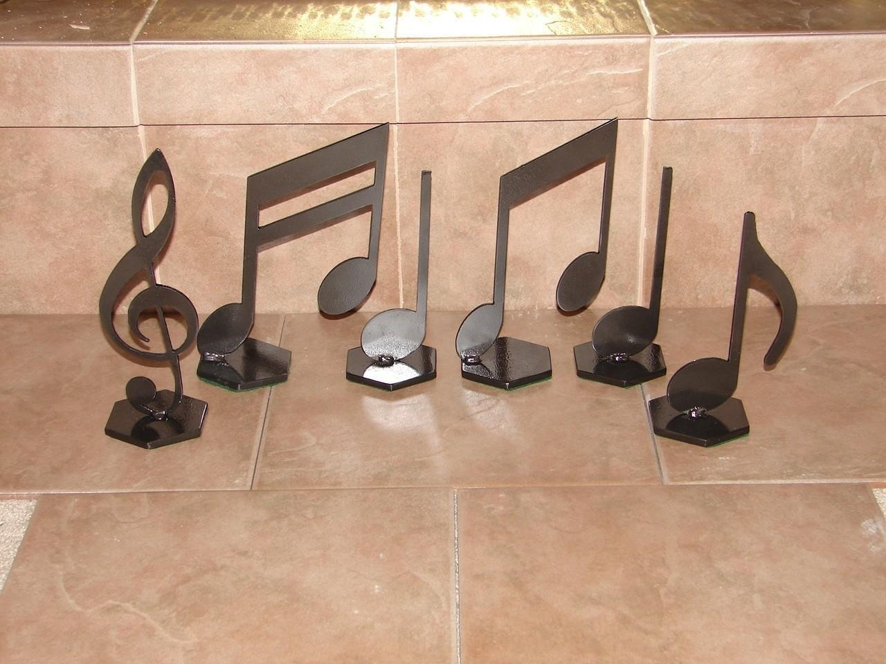 Musical Notes Home Decor Metal Art Music Note Set In Metal Music Wall Art (Image 14 of 20)