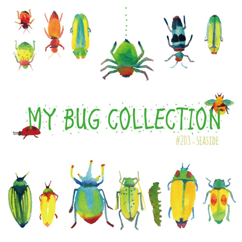 My Bug Collection Watercolor Clip Art Bugsinsectwall Throughout Insect Wall Art (Image 11 of 20)