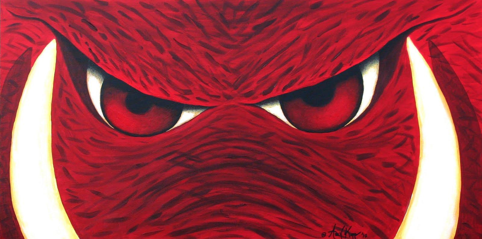 My Journey Creating: Arkansas Razorbacks Wall Art For Razorback Wall Art (Image 14 of 20)
