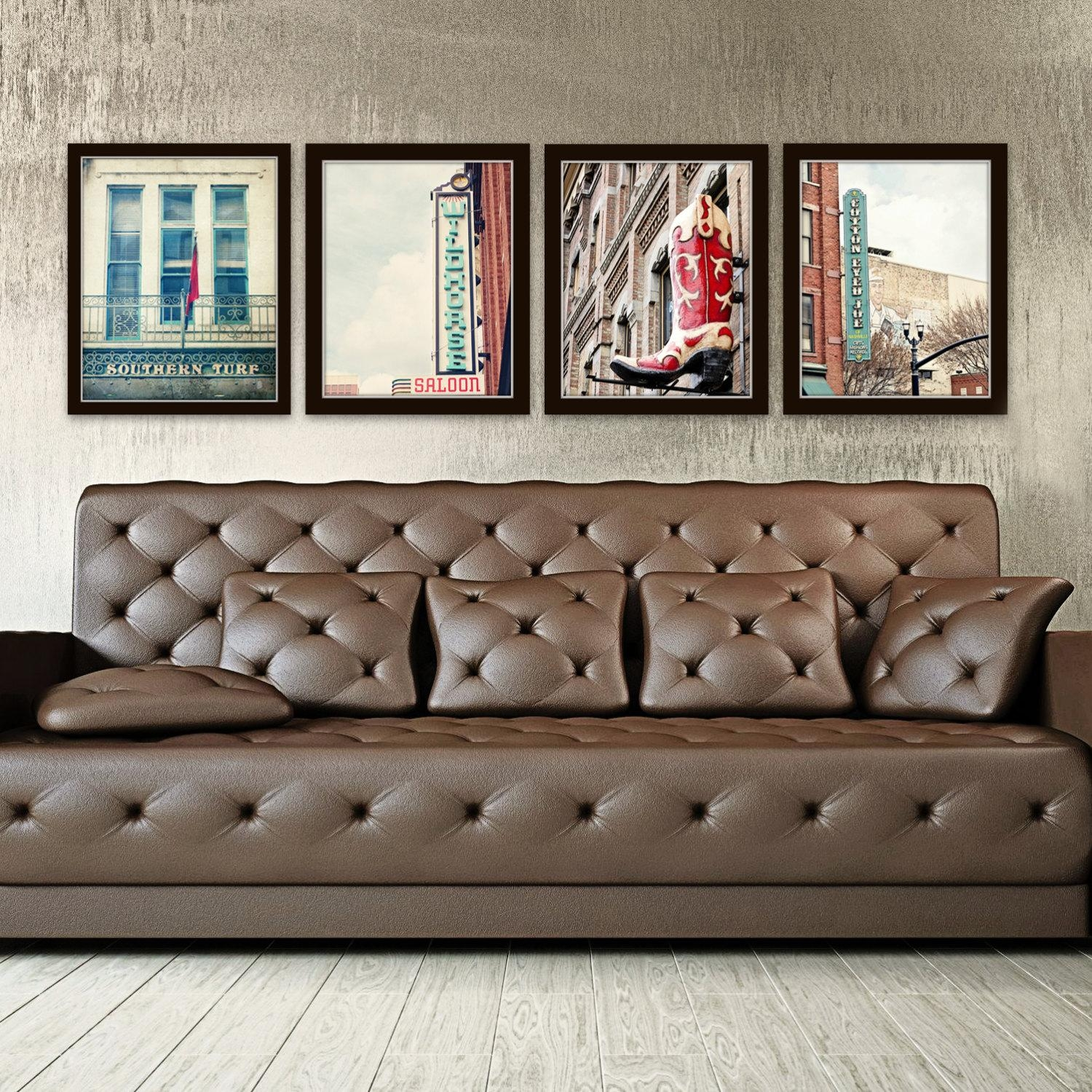 Nashville Wall Art Industrial Decor City Photography Set Of 4 Intended For Industrial Wall Art (View 3 of 20)