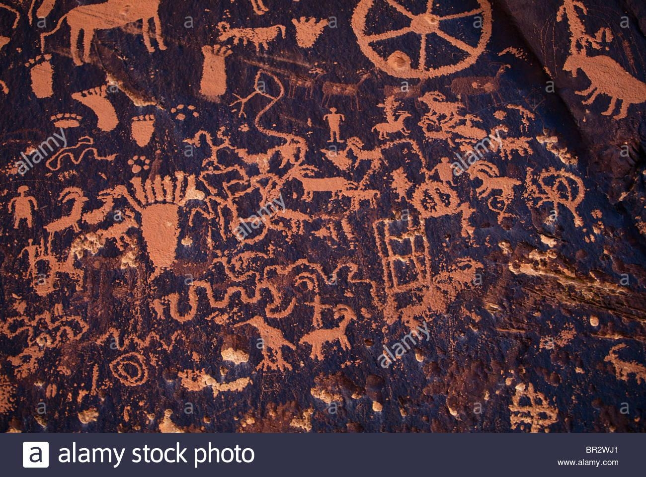 Native American Cave Art/wall Drawings Stock Photo, Royalty Free Pertaining To Native American Wall Art (View 12 of 20)