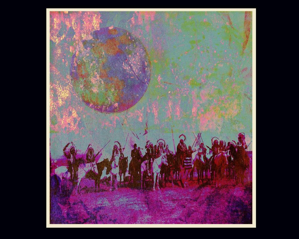 Native American Psychedelic Art Limited Edition Giclée Art regarding Native American Wall Art