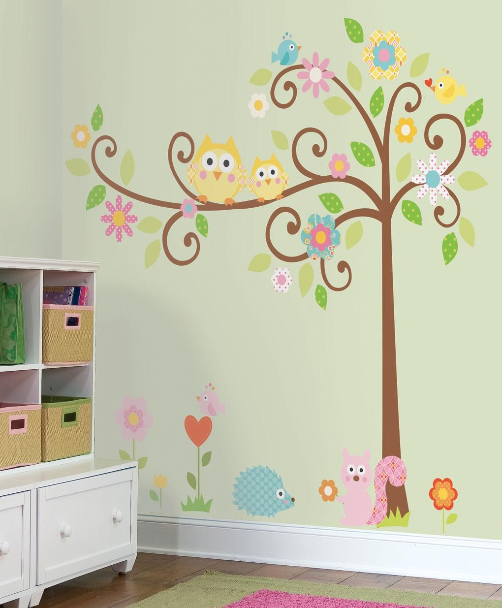 Nature-Theme Removable Wall Stickers For Kids Rooms, Nursery with Preschool Classroom Wall Decals