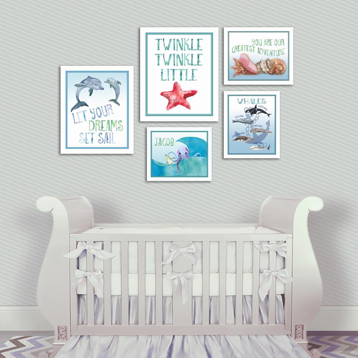 Nautical Nursery Dolphin Wall Art – Artsy Pumpkin With Nursery Wall Art (Image 13 of 20)