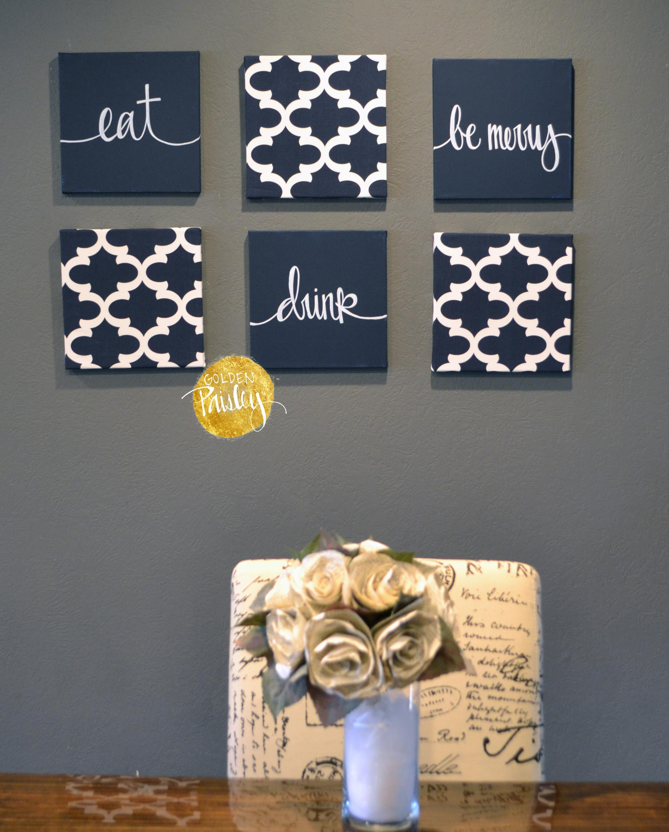 Navy Blue Wall Art Set for Dark Blue Wall Art