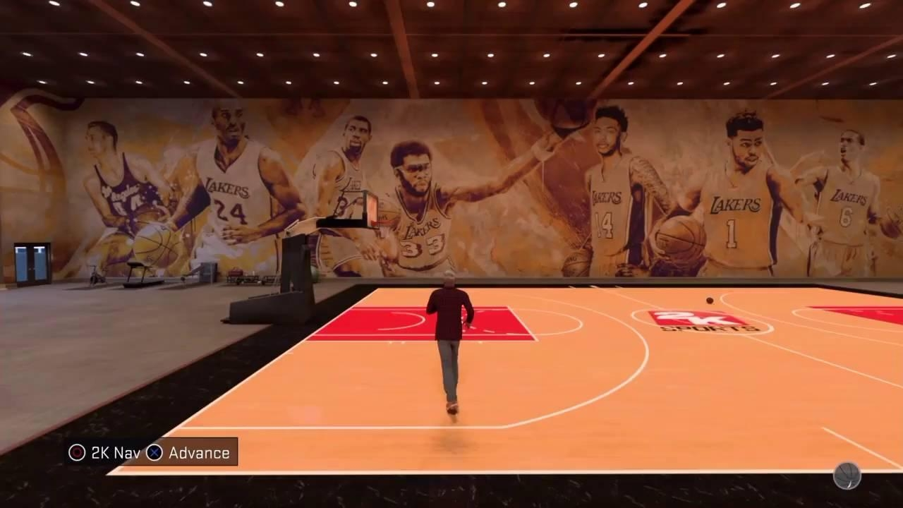 Nba 2K17 My Court Lakers Mural – Youtube Pertaining To Nba Wall Murals (Image 7 of 20)