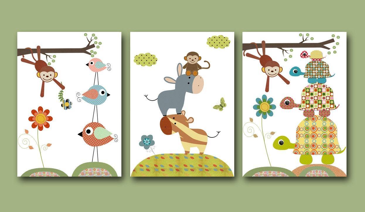 Neutral Wall Art Art Baby Nursery Decor Art Children Baby Room Regarding Children Wall Art (View 14 of 20)