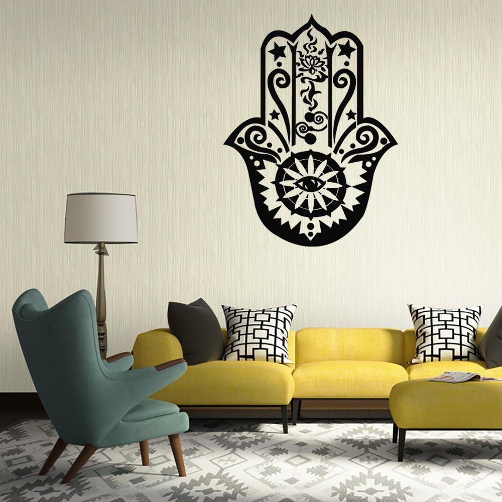 New Arrival Home Decoration Indian Buddhist Mandala Art Deco Wall Regarding Art Deco Wall Decals (View 8 of 20)