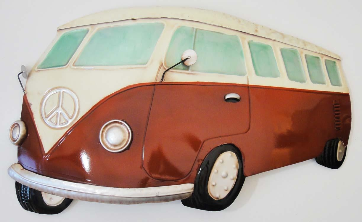 New – Contemporary Metal Wall Art Sculpture – Red Vw Campervan With Regard To Campervan Metal Wall Art (Image 10 of 20)