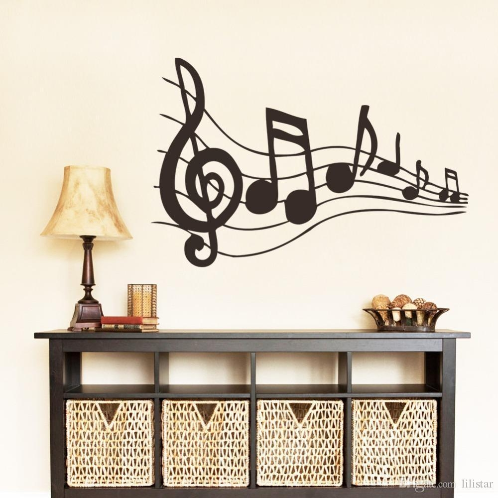 New Design Creative Music Musical Notes Notation Vinyl Wall Decal Regarding Music Note Wall Art (Image 13 of 20)