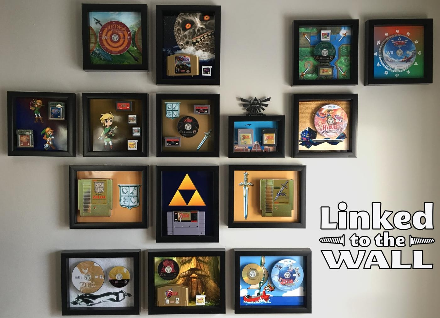 New Kickstarter Flips Your Old Gaming Cartridges Into Stunning Art Pertaining To Video Game Wall Art (Image 10 of 20)