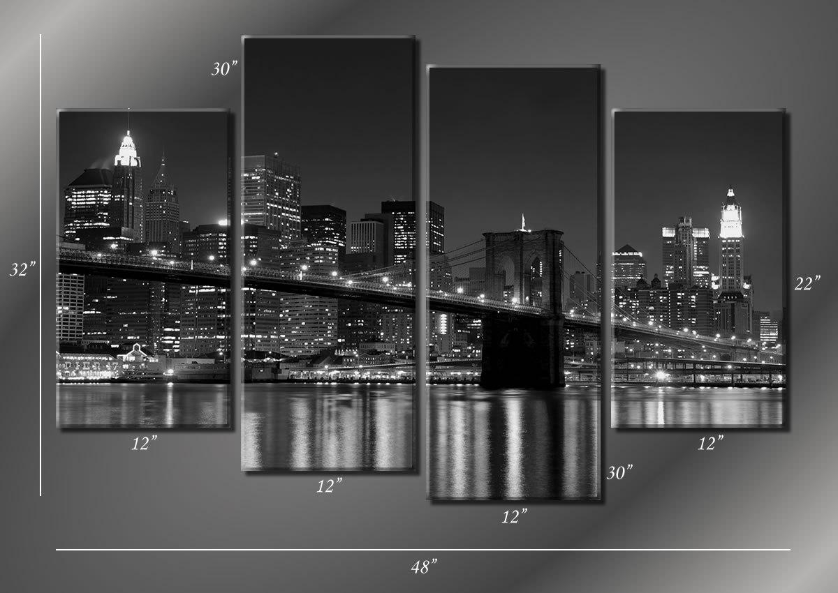 New York City Canvas Wall Art Trend Metal Wall Art For Cheap Wall with Brooklyn Bridge Metal Wall Art