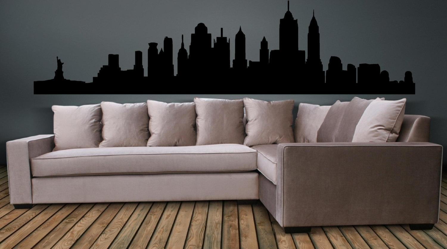 New York City Skyline Wall Decal Wall Art Sticker With Regard To New York City Wall Art (View 17 of 20)