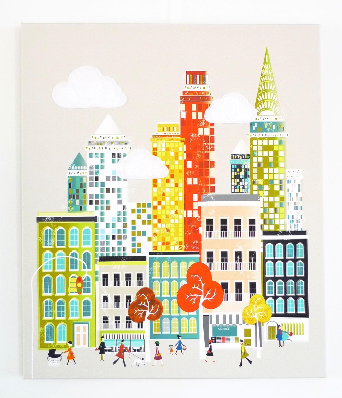 New York Wall Art, Manhattan Skyline, Framed Canvas Wall Art With Cityscape Canvas Wall Art (Image 14 of 20)