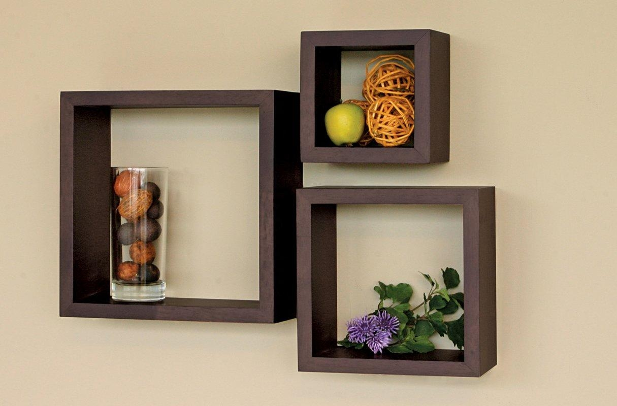 Nexxt Design Cubbi 3 Piece Wall Shelf Set & Reviews | Wayfair with 3 Piece Wall Art Sets