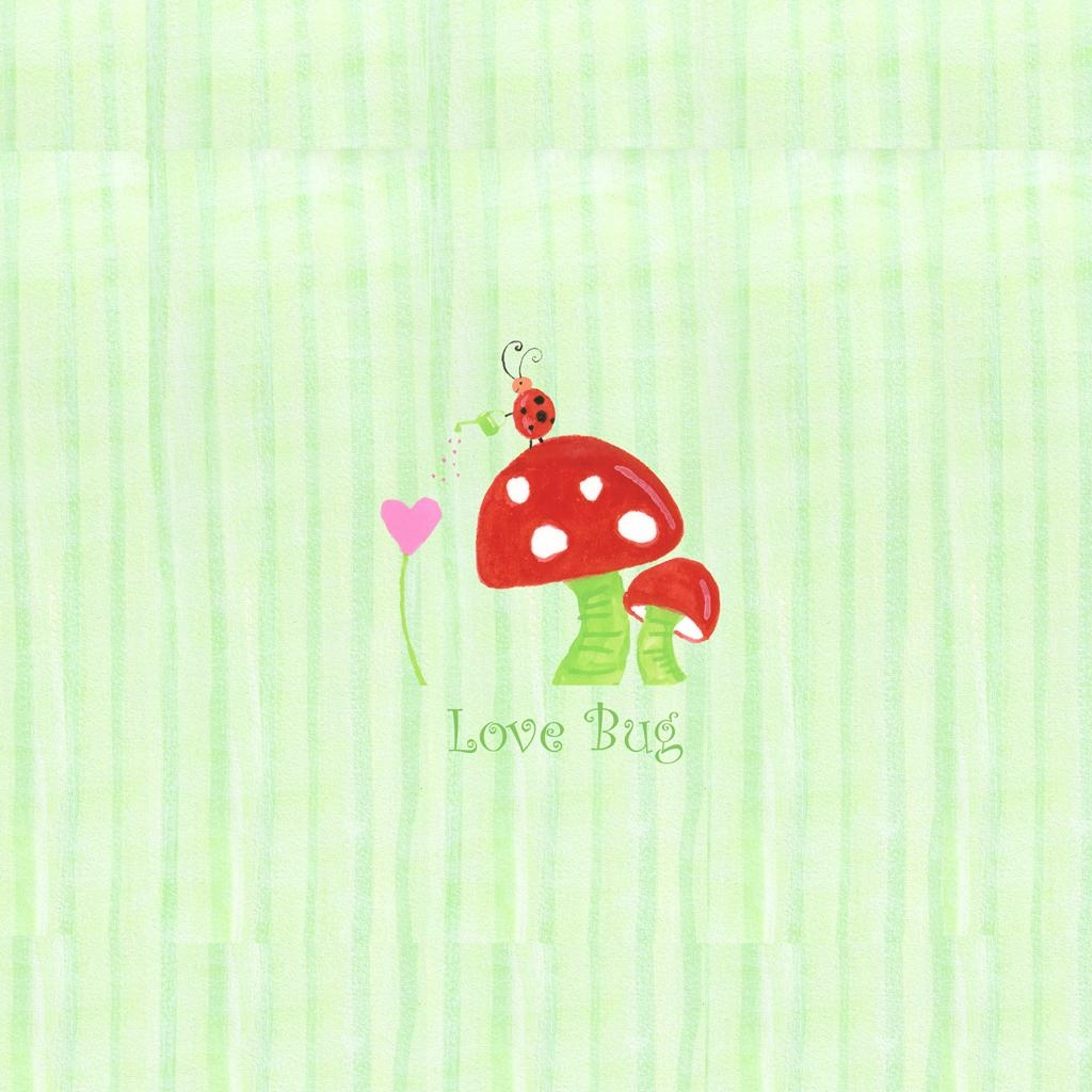 "Nickname ""love Bug"" Mushroom Wall Art 