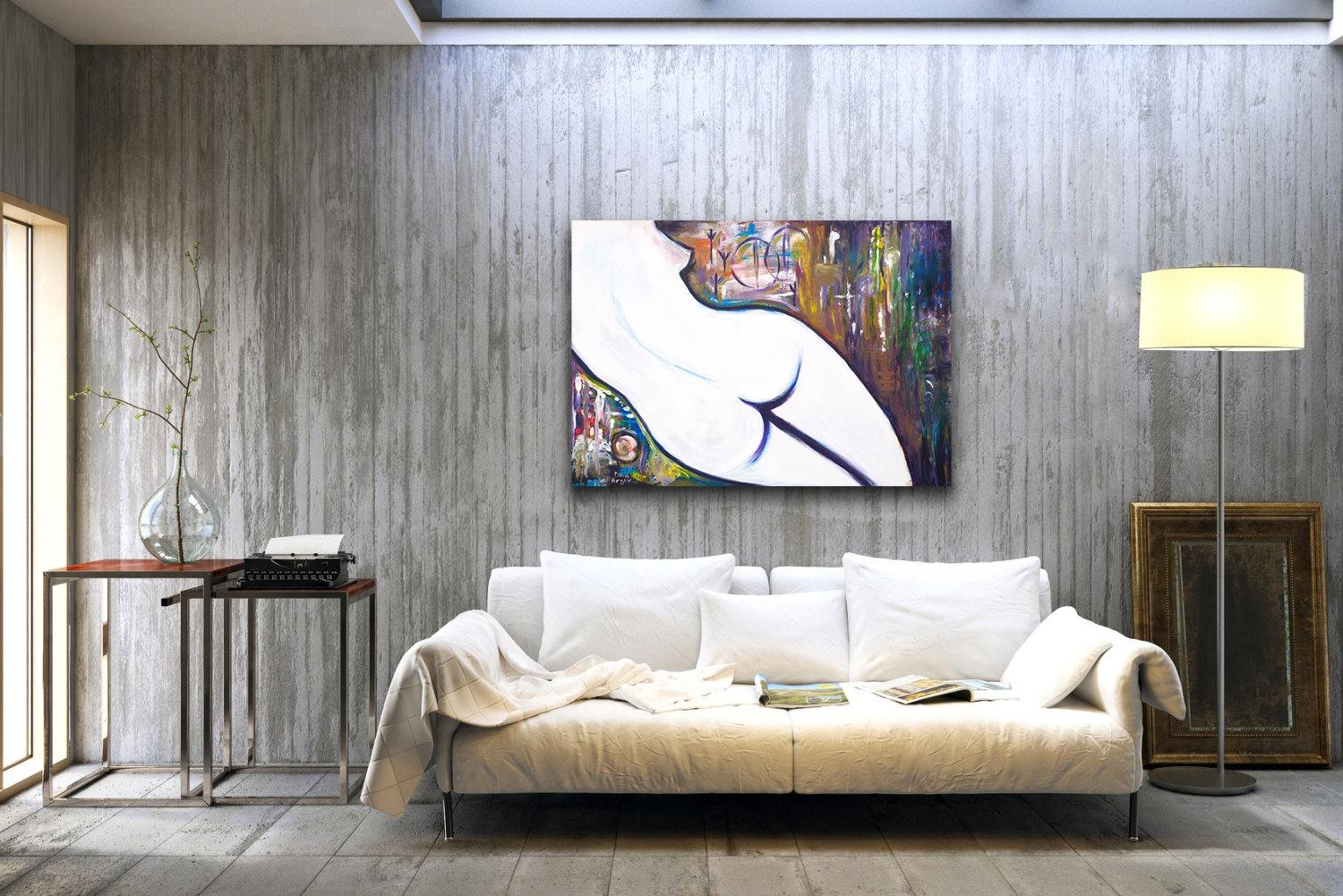 Nude Painting Abstract Female Nudity Woman Painting With Regard To Sensual Wall Art (Image 9 of 20)