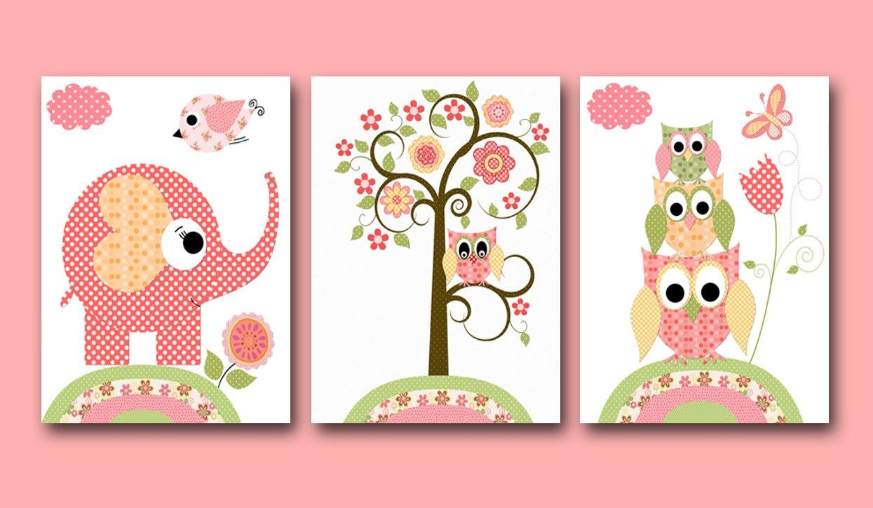 Nursery Art For Children Kids Wall Art Baby Girl Nursery Baby with Children Wall Art