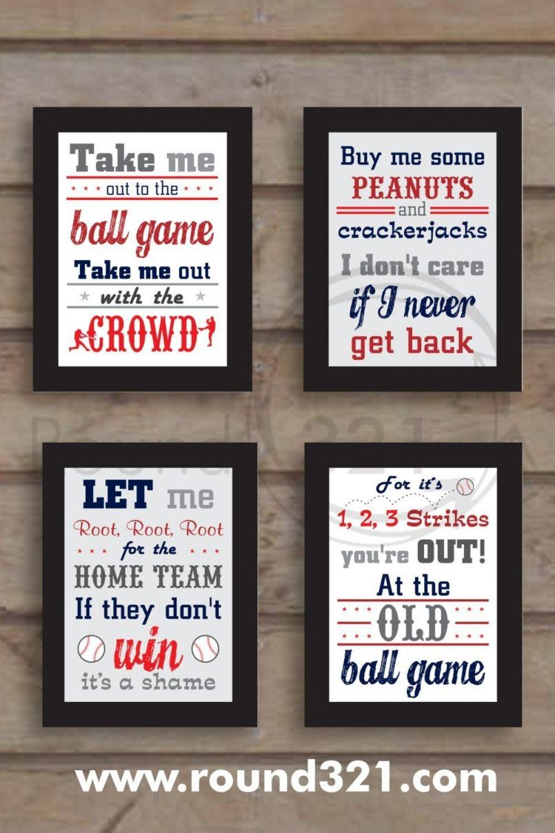 Nursery Beddings Baseball Ideas For Easter Plus Sports Themed Wall In Vintage Baseball Wall Art (Image 11 of 20)