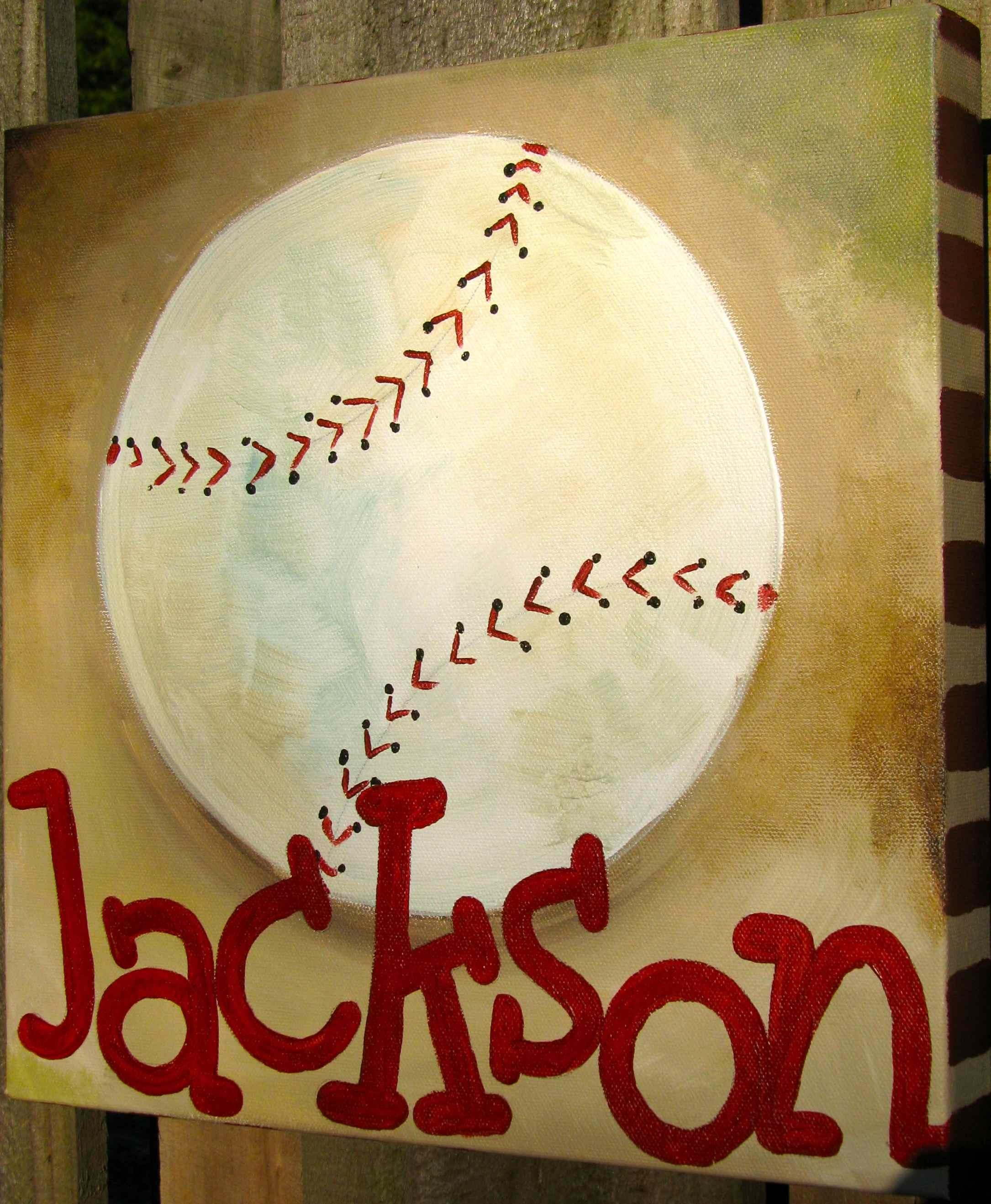20 Best Collection of Vintage Baseball Wall Art | Wall Art Ideas