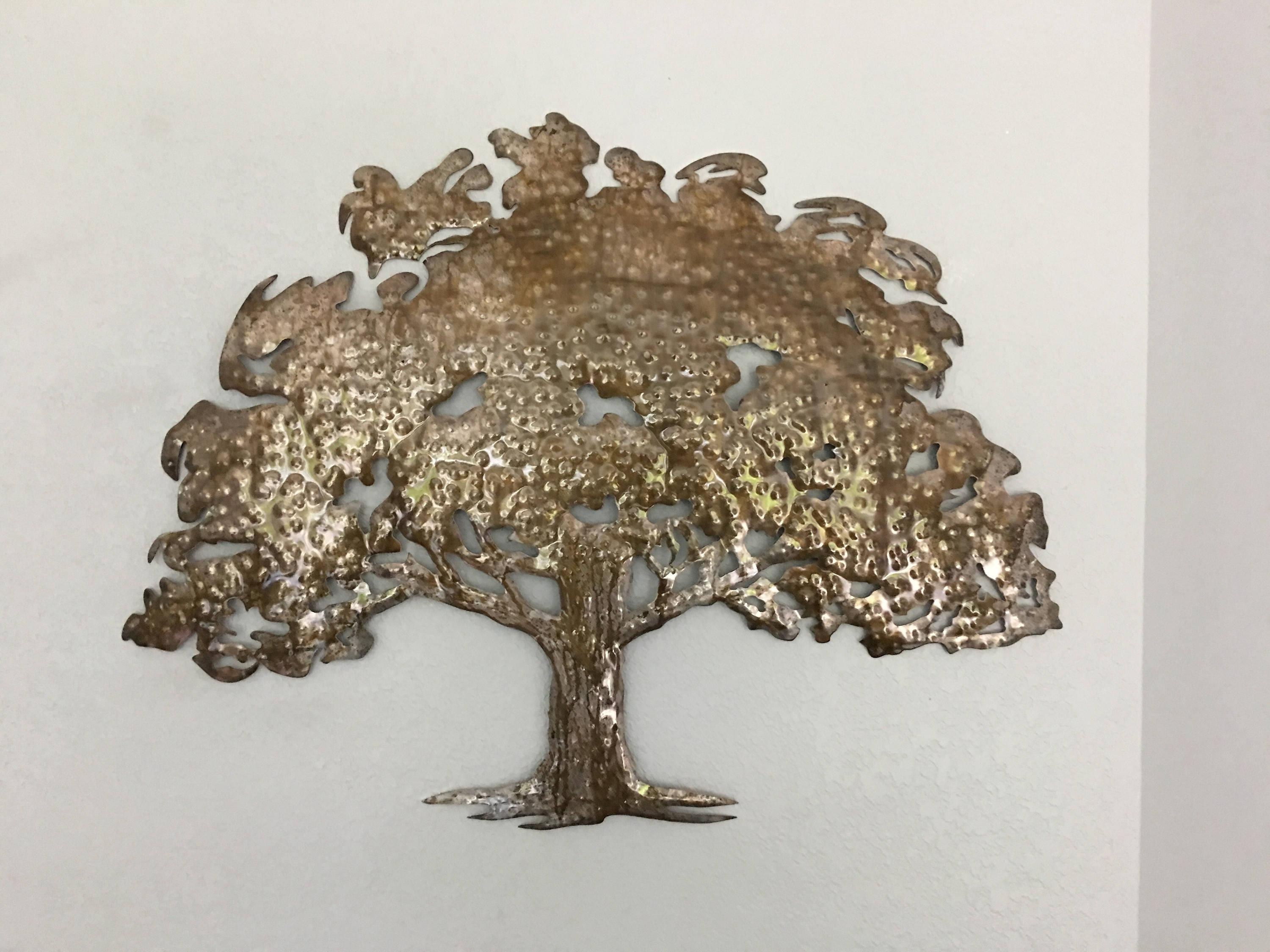 Oak Tree – Metal Tree Art – Wall Art With Regard To Metal Oak Tree Wall Art (Image 12 of 20)