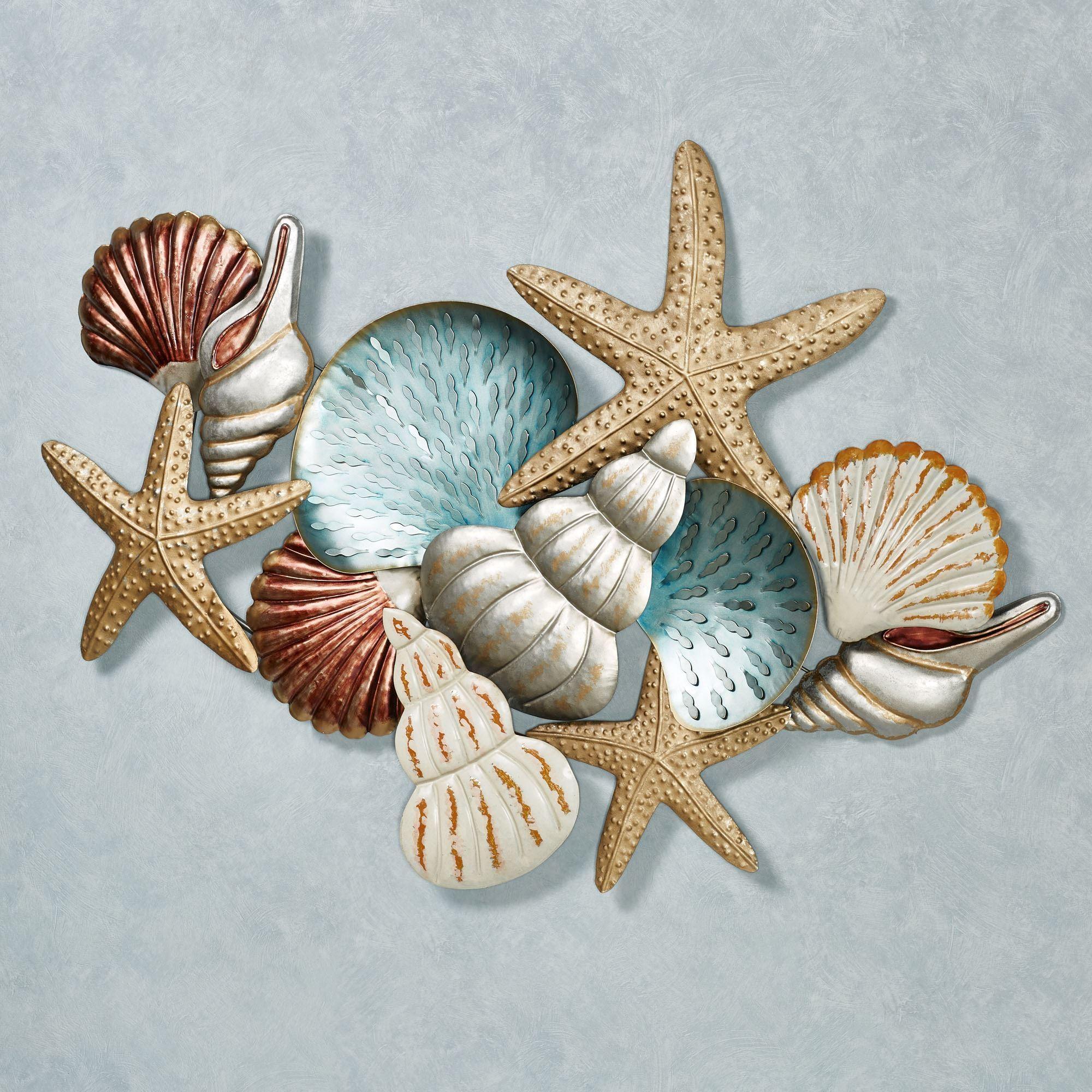 Ocean Collage Metal Wall Art Regarding Metallic Wall Art (Image 15 of 20)