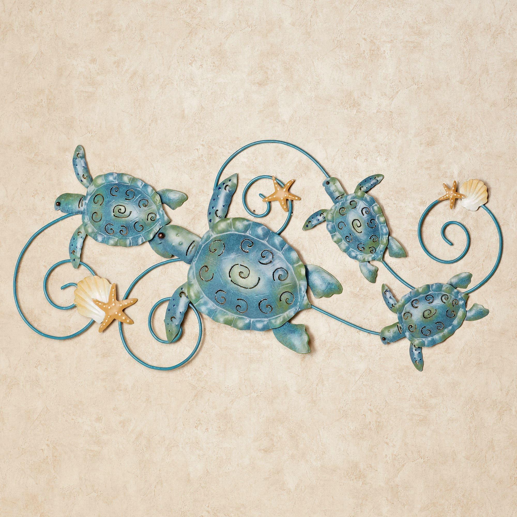 Ocean Friends Sea Turtle Metal Wall Art For Coastal Wall Art (Image 14 of 20)