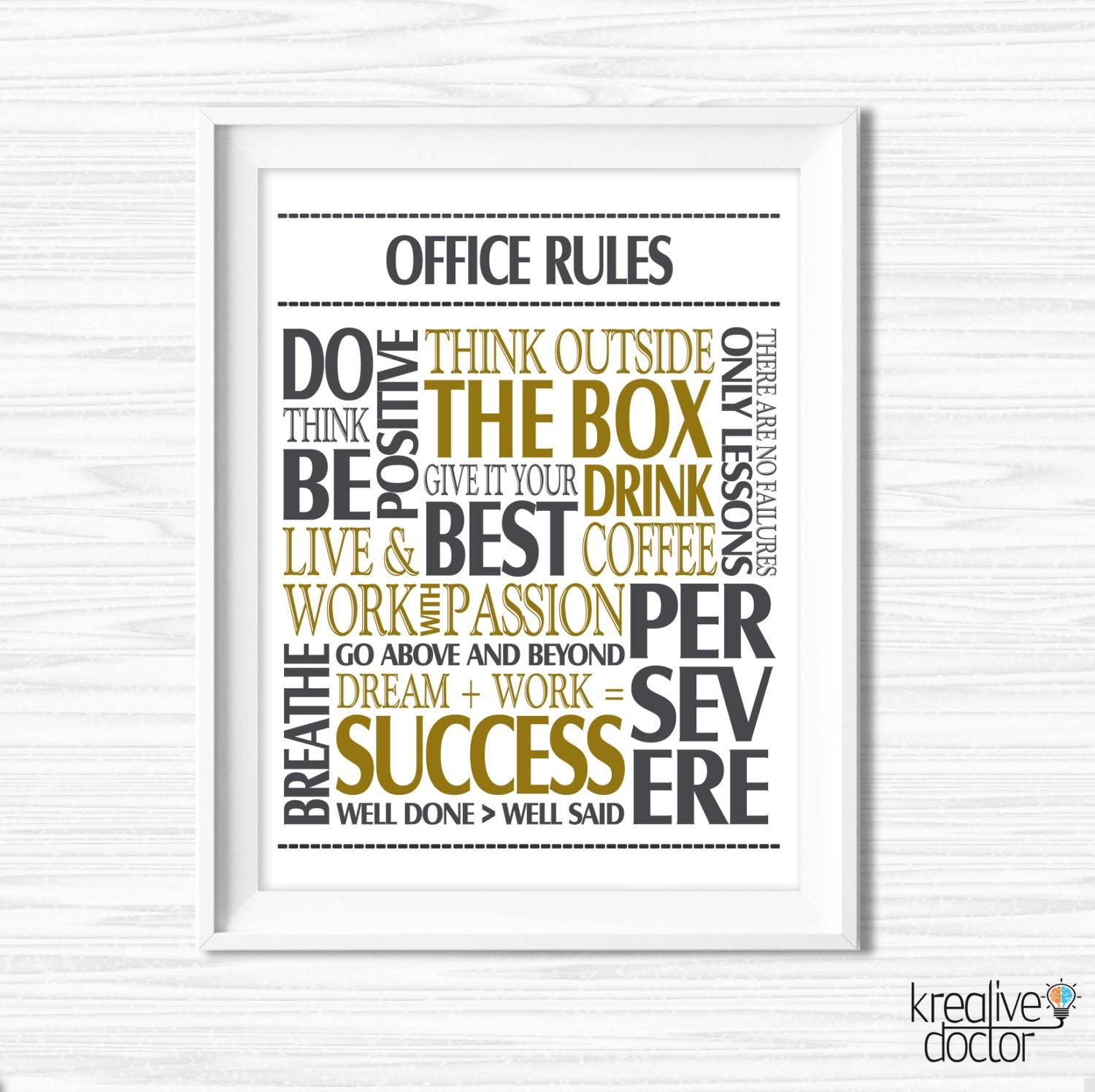 Featured Photo of Inspirational Wall Art For Office