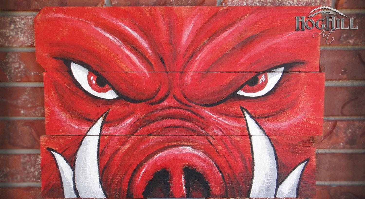 Official Arkansas Razorback Painting Tusks On Within Razorback Wall Art (View 4 of 20)