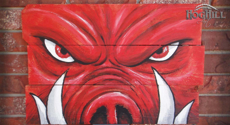 Official Arkansas Razorback Painting Tusks On Within Razorback Wall Art (Image 16 of 20)