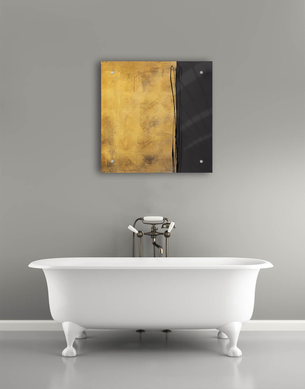 Old Gold | Pitch Black – Silver Wall Art, Contemporary Art Uk Throughout Black Silver Wall Art (Image 13 of 20)