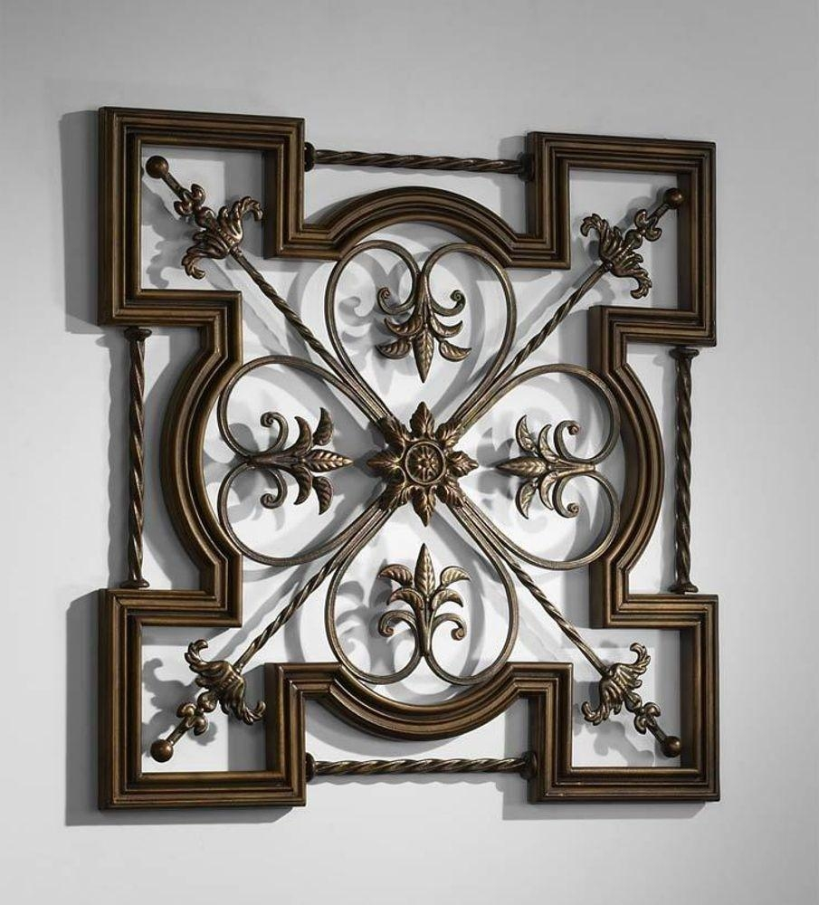 Old World Decor | Ebay Throughout Fleur De Lis Metal Wall Art (Image 13 of 20)