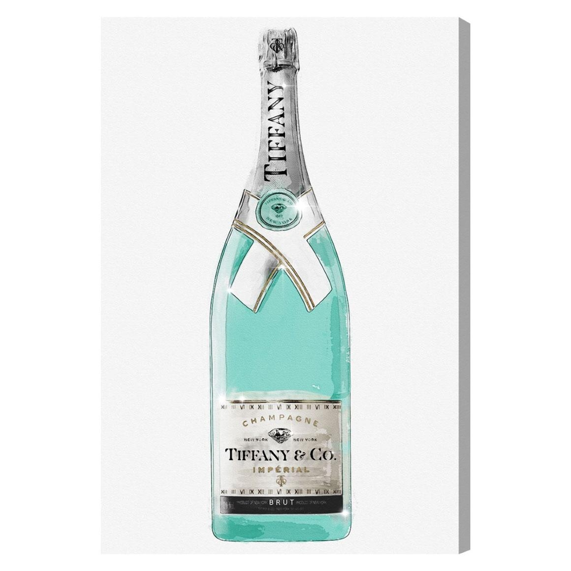 Oliver Gal Priceless Champagne Canvas Wall Art For Tiffany And Co Wall Art (Image 16 of 20)