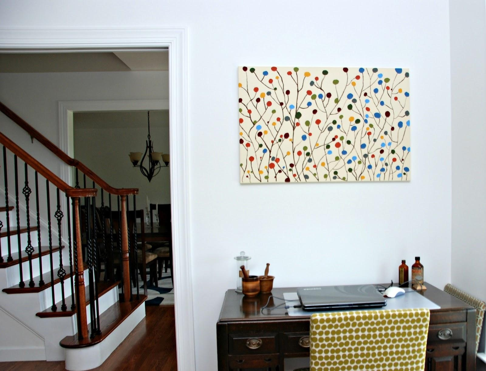 One Creative Housewife: Diy Contemporary Wall Art Regarding Homemade Wall Art (View 11 of 20)