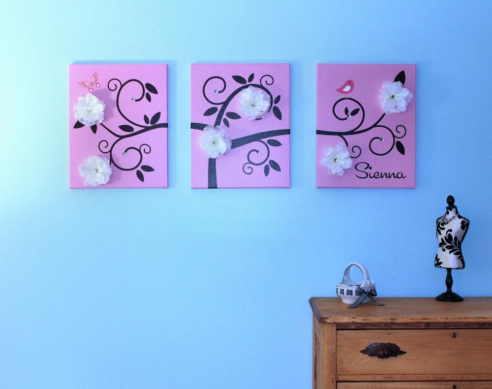 One Hip Sticker Chic: Wall Art That Grows With Inkjet Printing Intended For Kids Canvas Wall Art (Image 16 of 20)