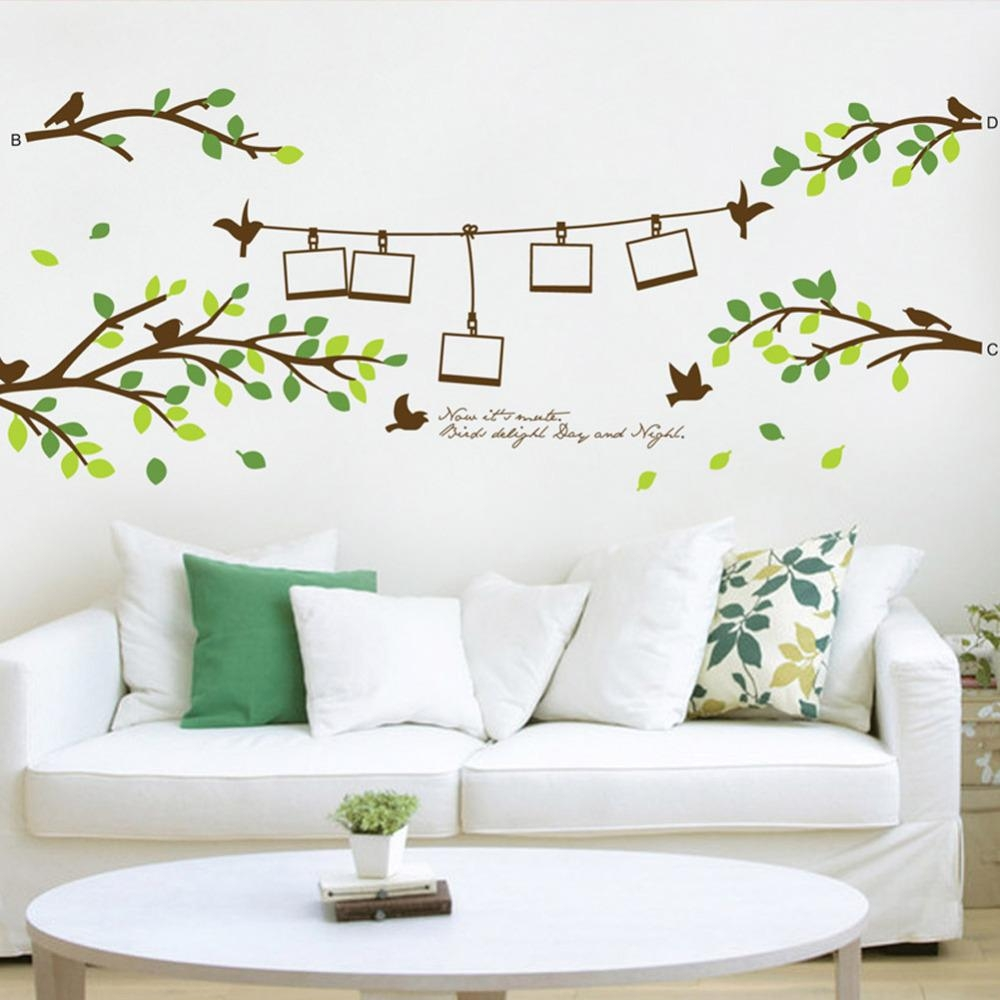 Online Buy Wholesale 3D Wall Art Trees Birds From China 3D Wall With Regard To 3D Tree Wall Art (View 12 of 20)