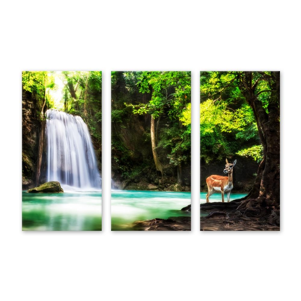 Online Buy Wholesale Animated Waterfalls Wall Art From China Within Waterfall Wall Art (Image 8 of 20)