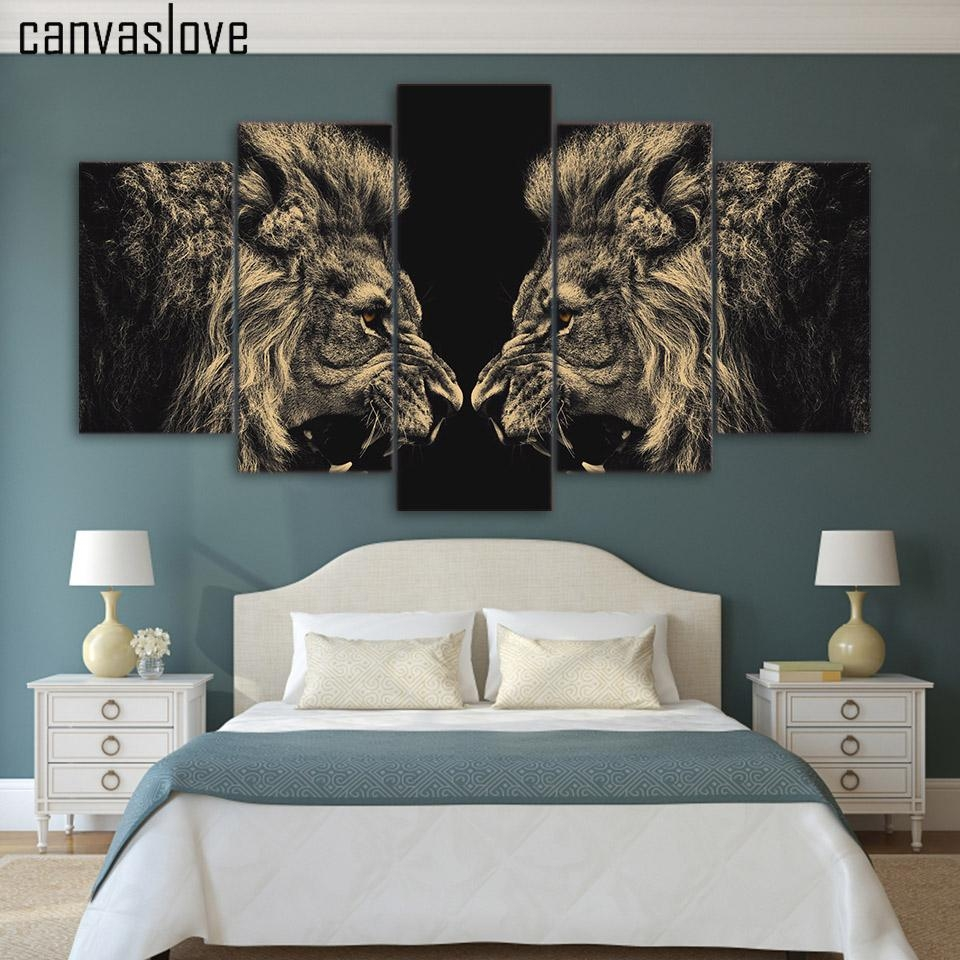 Online Buy Wholesale Art Lions From China Art Lions Wholesalers With Lion Wall Art (Image 14 of 20)
