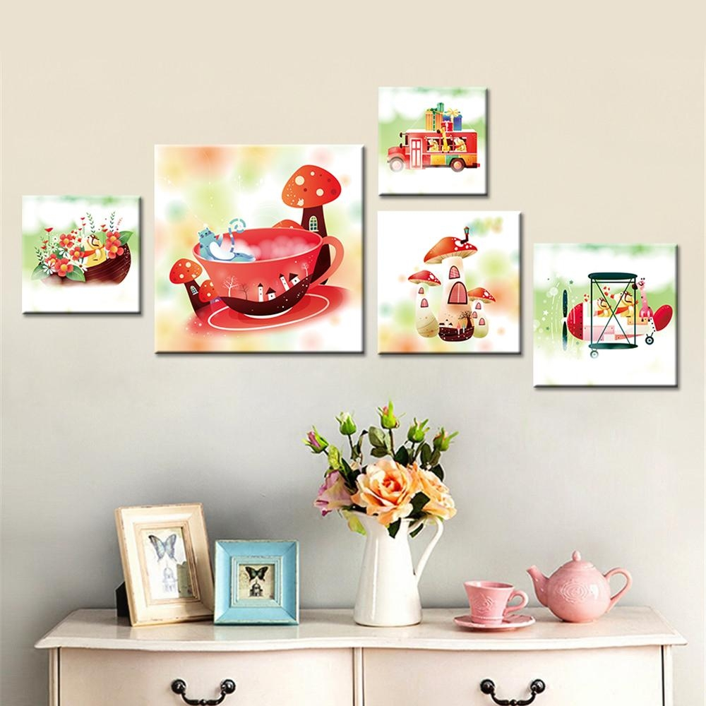 Online Buy Wholesale Art Mushroom From China Art Mushroom Regarding Mushroom Wall Art (Image 12 of 20)